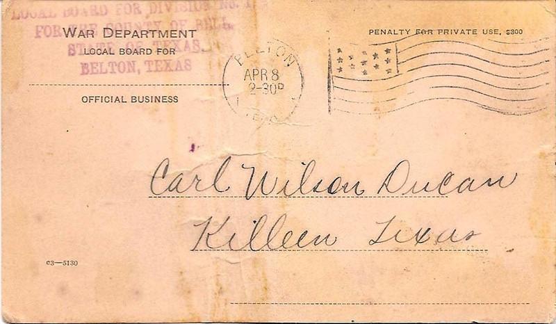 1918 - 4-8 Carl Duncan's War Dept. Health notice 01.jpg