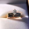 0.36ct Vintage Marquise Wedding Set 45
