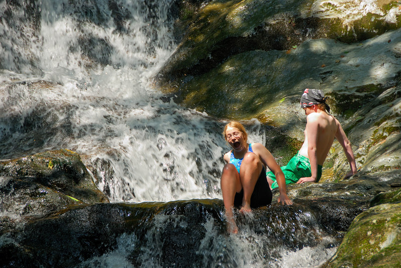 Stephanie and Nate at Tannery Falls   (Jul 01, 2006, 10:58am)