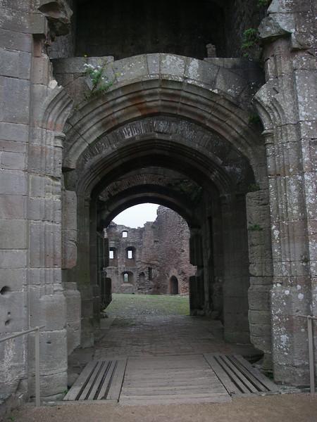 Entering the inner courtyard at Castle Rhaglan