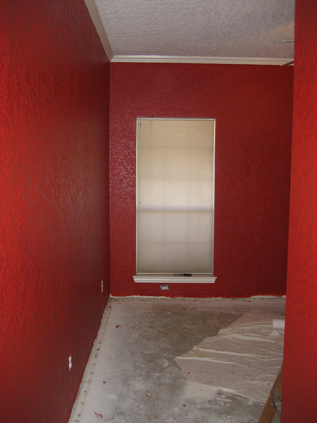 Final coat of red, right before we start flooring.