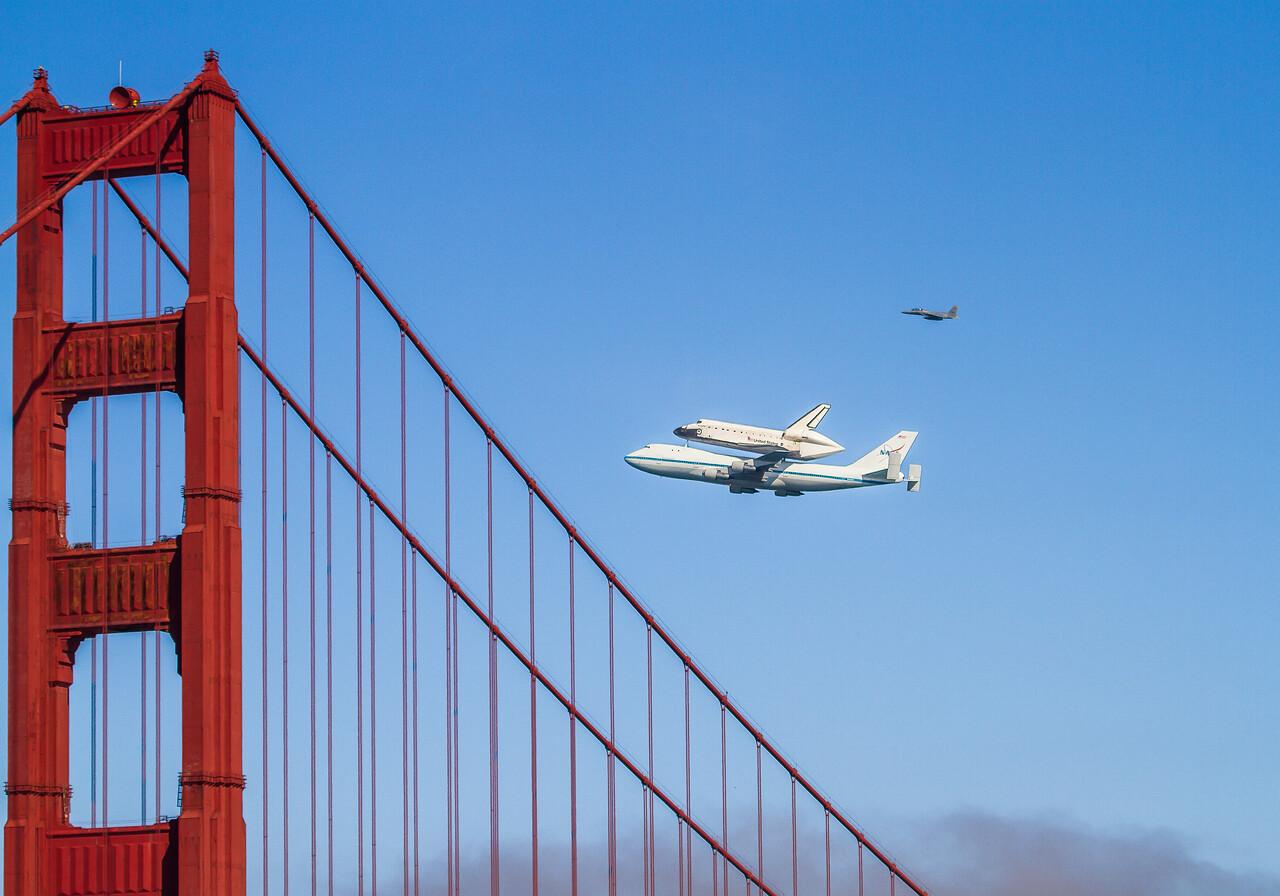 #kw-108 Space Shuttle Endeavour - Last Flight 9/20/2012 - San Francisco