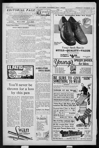 Daily Trojan, Vol. 17, No. 59, December 10, 1925