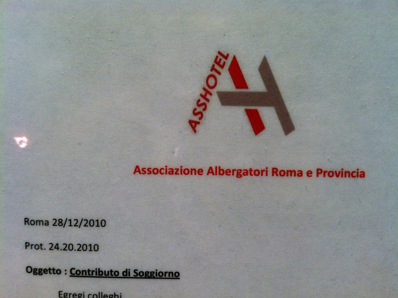 At the Aleph Boscolo in Rome. Pretty accurate.