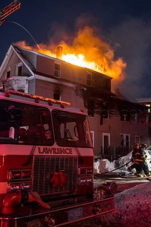 2 Alarm Structure Fire - 40 Manchester St, Lawrence, MA - 2/16/17