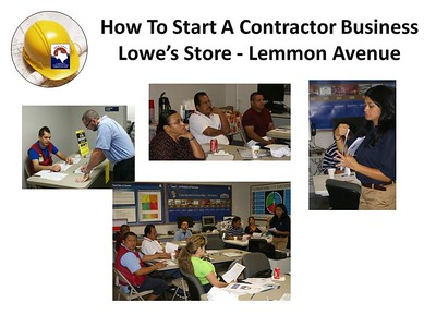 How To Start A Contractor Business Seminar Series @ Lowe's June 23, 2012