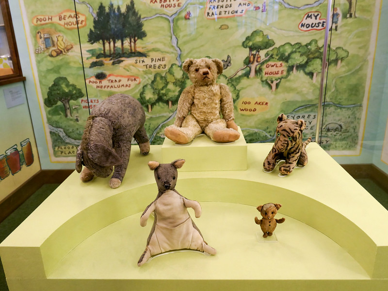 Winnie-the-Pooh animals at the New York Public Library