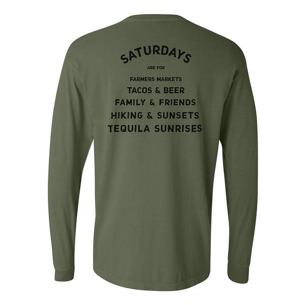 Organ Mountain Outfitters - Outdoor Apparel - Mens T-Shirt - Saturdays are for Farmers Markets Long Sleeve Tee - Hemp Back.jpg