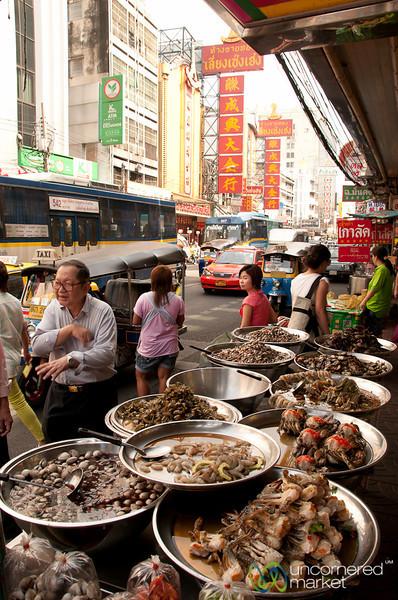 Seafood Street Stall in Chinatown - Bangkok, Thailand