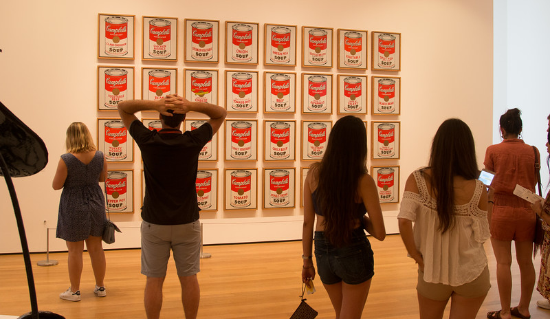 "Andy Warhol, ""Campbell's Soup Cans"" (1962)  -- Museum of Modern Art (MoMA), New York"