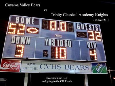 CIF vs. Trinity Knights @ Home - Nov. 25
