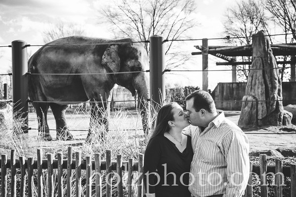 Katie & Mike B/W Engagement Photos