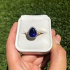 7.00ctw Tanzanite and Diamond Halo Ring 26