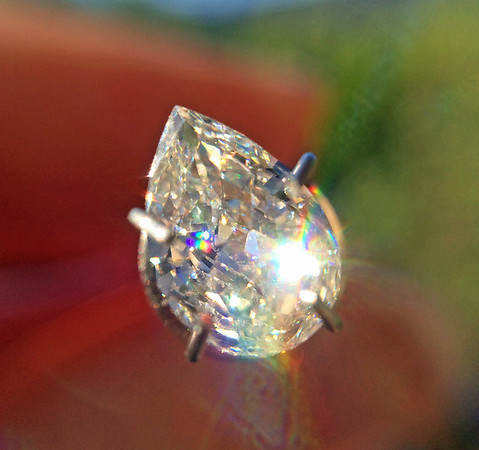.70ct Vintage Pear Cut Diamond