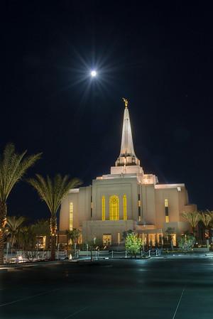 2014 Gilbert Arizona Temple Lightpainted