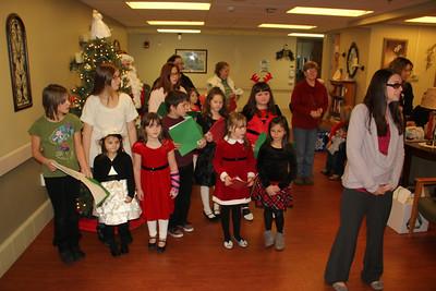Kids Caroling, Lansford Grace Community Church, Seniors, 5th Floor, St. Luke's Hospital, Coaldale (12-24-2013)