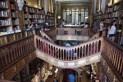 Livraria Lello & Irmão [believed to be the inspiration for JK Rowling's Harry Potter and Hogwarts]