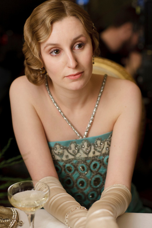 """. Laura Carmichael as Lady Edith. The fourth season of \""""Downton Abbey\"""", set in 1922, sees the return of our much loved characters. As they face new challenges, the Crawley family and the servants who work for them remain inseparably interlinked.   (Photo by Nick Briggs/Carnival Films & Television Limited 2013 for MASTERPIECE)"""