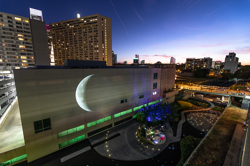 Moon Viewing Platform by Nadia Hironaka, Matthew Suib & Eugene Lew, October 5, 2019. Photo by Steve Weinik.