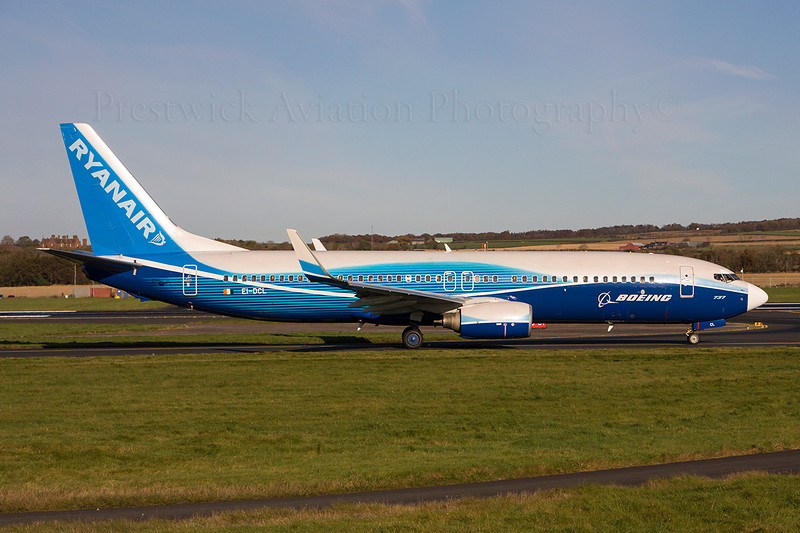 EI-DCL. Boeing 737-8AS. Ryanair. Prestwick. 021108.