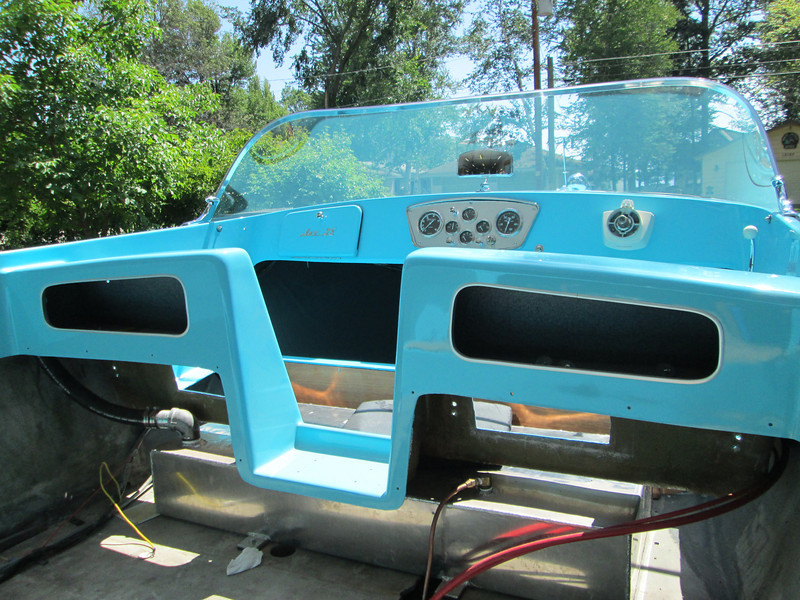 New aluminum trim installed around rear storage compartments.