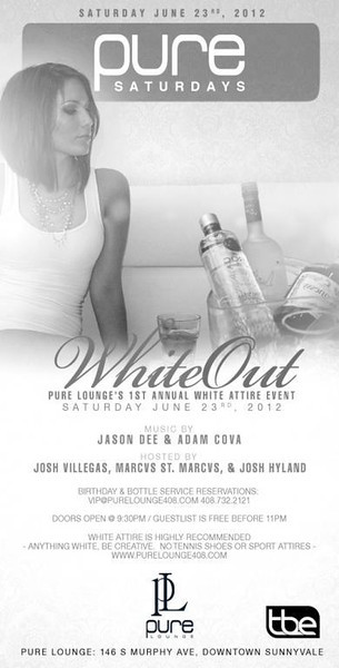 6/23 [White Out@Pure Lounge]