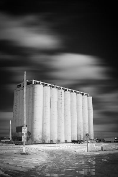 Lakeside silos