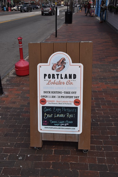 Must have a lobster roll while in Maine.  It was very good.