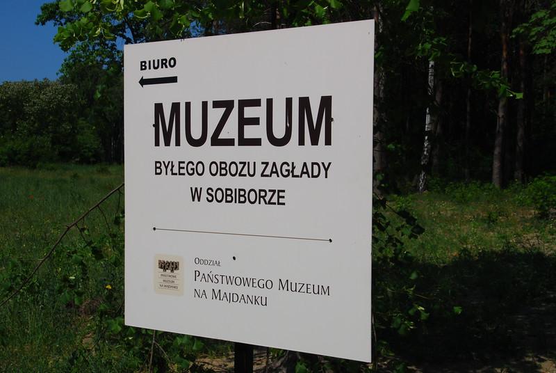 Museum entrance signage.