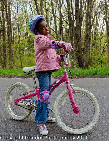 Girls Riding Their Bikes