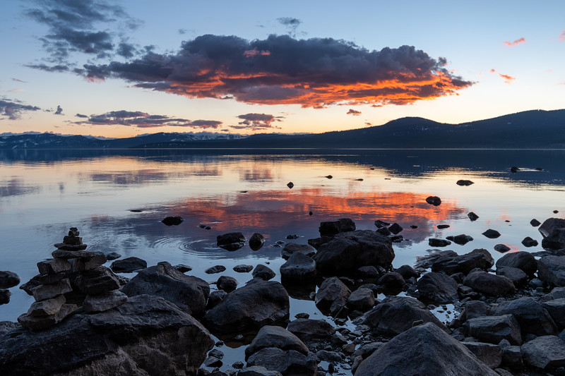 Beautiful sunset at Lake Tahoe