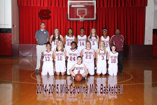 2014-2015 basketball Girls