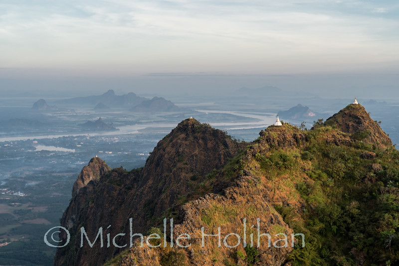 View from the summit of Mt. Zwegabin, Hpa-An, Myanamr