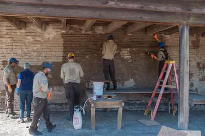 Petaluma Adobe Wall Repair Demo Project, Sept 2014