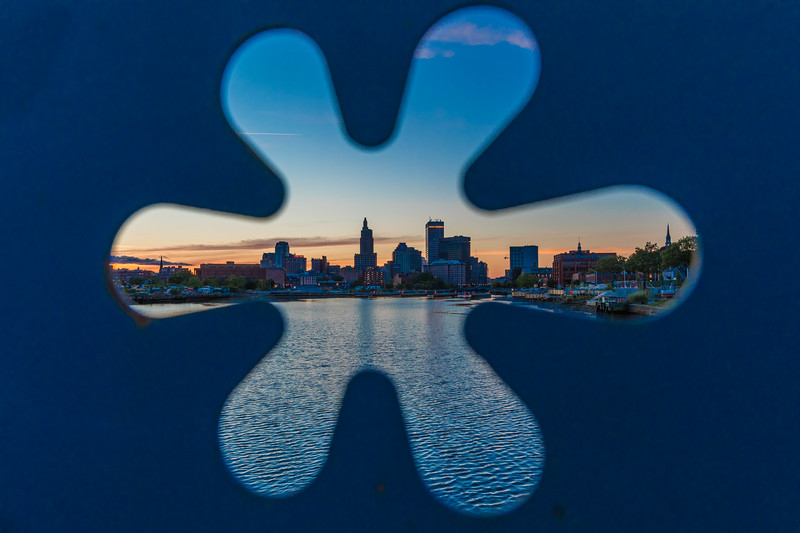 The Point Street Bridge Looking at the Providence Skyline