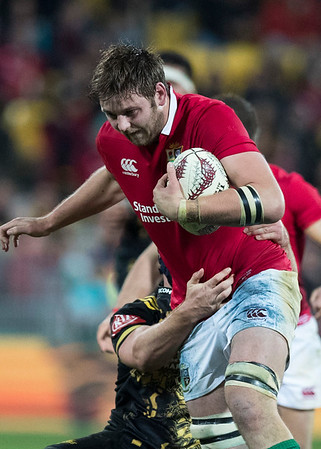 Iain Henderson during game 8 of the British and Irish Lions 2017 Tour of New Zealand,The match between  Hurricanes and British and Irish Lions, Westpac Stadium, Wellington, Tuesday 27th June 2017 (Photo by Kevin Booth Steve Haag Sports)  Images for social media must have consent from Steve Haag