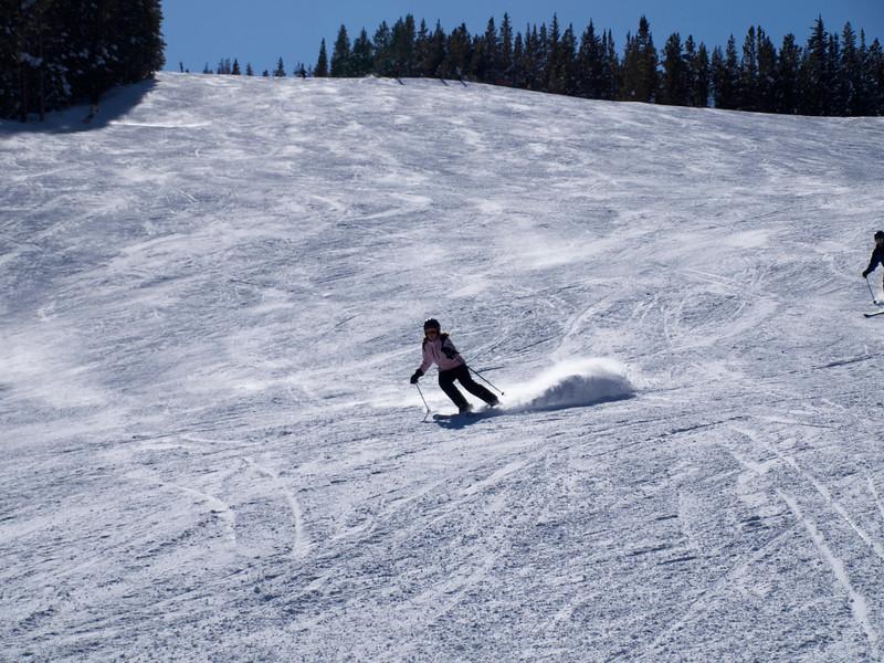 Kelly kicks up snow
