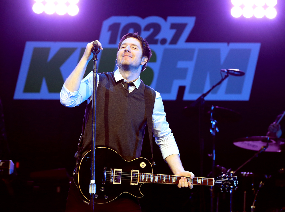 Description of . Musician Adam Young of Owl City performs onstage during KIIS FM's 2012 Jingle Ball at Nokia Theatre L.A. Live on December 3, 2012 in Los Angeles, California.  (Photo by Christopher Polk/Getty Images for Clear Channel)