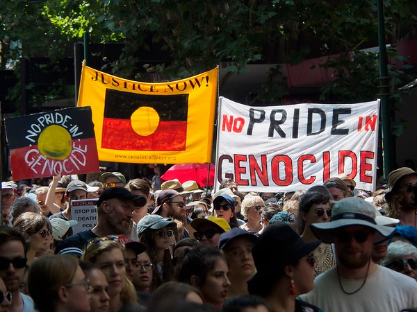 Melbourne 'Invasion Day' Demo, 26 January 2018