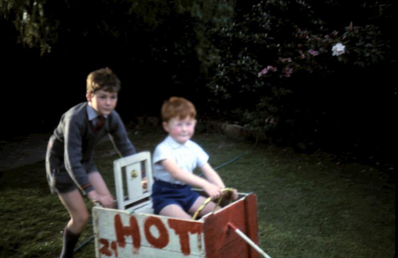 1967-10 (4) David 3 yrs 10 mths with Andrew Swan 9 yrs 10 mths.JPG