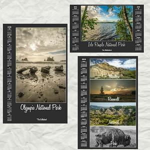 National Park Calendar Posters