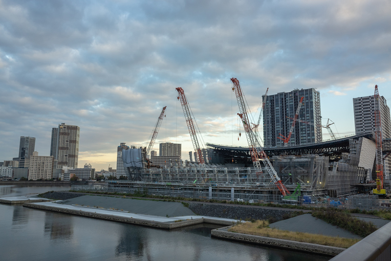Ariake Arena under construction. Editorial credit: kawamura_lucy / Shutterstock.com
