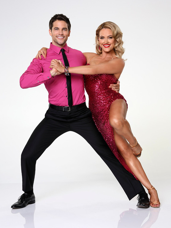 """. DANCING WITH THE STARS - BRANT DAUGHERTY & PETA MURGATROYD - Brant Daugherty partners with Peta Murgatroyd. \""""Dancing with the Stars\"""" returns for Season 17 on MONDAY, SEPTEMBER 16 (8:00-10:01 p.m., ET), on the ABC Television Network. (ABC/Craig Sjodin)"""