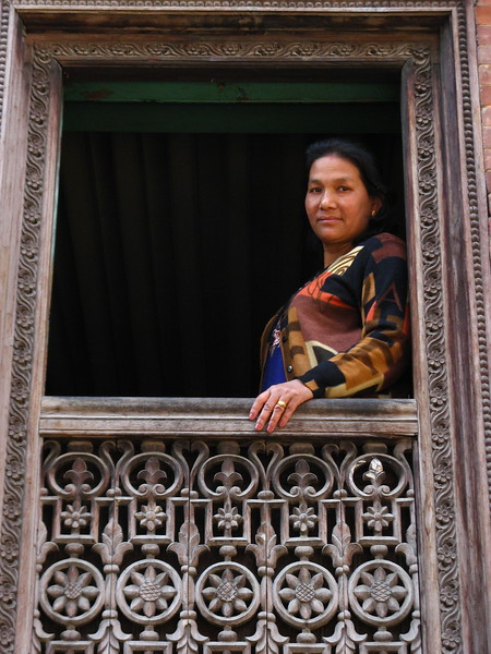 A local in Patan peering out