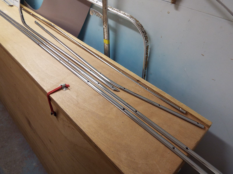 Some of the trim after being repaired and polished.
