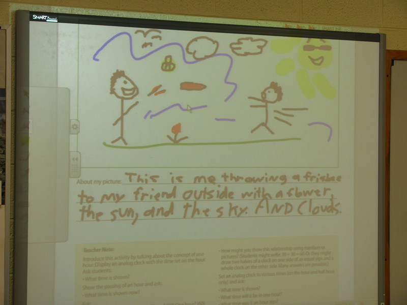 Daniel and Curtis had some fun with the worksheets.