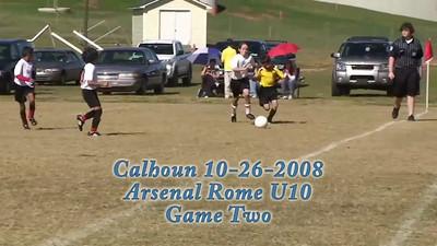U10 Arsenal Rome vs Calhoun Game Two 10-26-2008