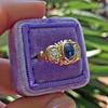 1.75ctw Cab Sapphire and Old European Cut Diamond 3-stone Ring 20