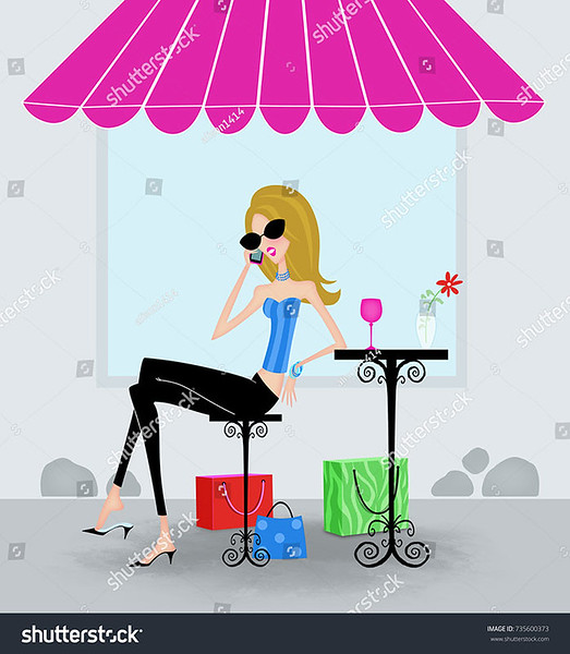 stock-photo-cute-stylish-woman-with-shopping-bags-at-an-outdoor-cafe-talking-on-a-cell-phone-735600373.jpg
