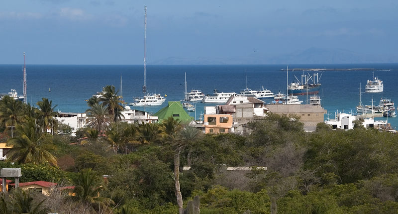 View of Puerto Ayora harbor